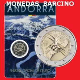 2019 - ANDORRA - 2 EURO - ESQUI  ALPINO  - COINCAR