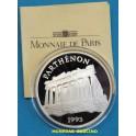 1995 - FRANCIA - 100 FRANCS - 15 ECUS - PARTHENON - PLATA - FRANCE -monedasbarcino.com