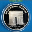 1993 - FRANCIA - 100 FRANCS - 15 ECUS - ARC DE TRIOMPHE TRIUNFO- PLATA - FRANCE -monedasbarcino.com