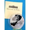 1994 - FRANCIA - 100 FRANCS - 15 ECUS- TUNEL DE LA MANCHA - PLATA - FRANCE -