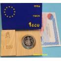 1996 - ESPAÑA - 1 ECU - TIMON  . JUAN CARLOS I - PLATA -monedasbarcino.com