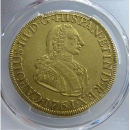 1761 - 8 ESCUDOS -CARLOS III- LIMA- PERU-CHARLES III