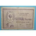 1937 - GUIAMETS - 1 PESETA - TARRAGONA - BILLETE PUEBLO