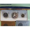 1994 - GRECIA - 10 y 25 y 150  ECU - DELFINES - 3 MONEDAS COLECCION PLATA