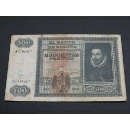1940 - ESPAÑA - SPAIN  -500 PESETAS - JUAN DE AUSTRIA  - BILLETE