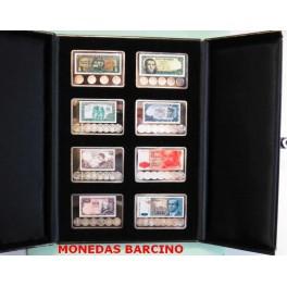 2001- ESPAÑA - PESETAS - ONZAS  PLATA - LA PESETA Y SU HISTORIA moneda y billetes