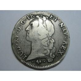1761  - FRANCIA - ECU - PLATA - LOUIS XV -BAYONNE L -