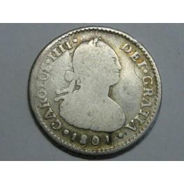 1801 - FERNANDO VII - 1 REAL - SANTIAGO CHILE - ESPAÑA