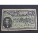 1895 ARGENTINA - 20 CENTAVOS-  BARTOLOMEO MITRE- BILLETE - BANKNOTE