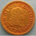 MEDIO ESCUDO 1755. www.casadelamoneda.com