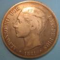 5 Pesetas 1881. www.casadelamoneda.com