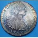 1796 Lima 8 reales.Carlos IV. www.casadelamoneda.com