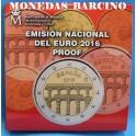 2016 -  EUROS - ESPAÑA - ESTUCHE  OFICIAL