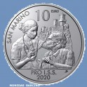 2020 -  SAN MARINO - 10 EUROS - Covid state of emergency